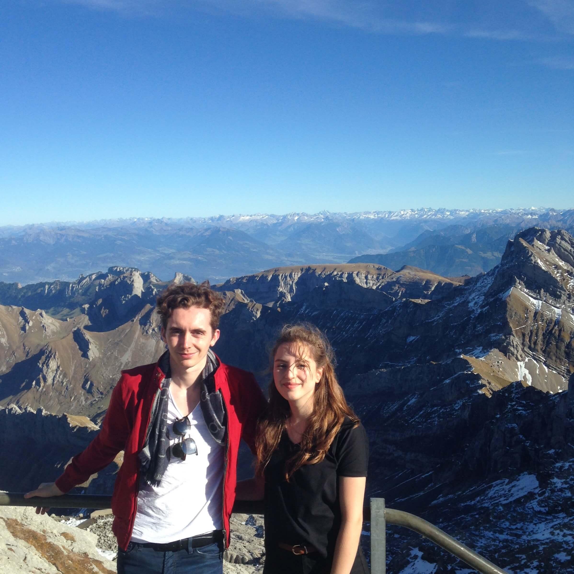 Wunderschöner Ausblick vom Berggipfel.