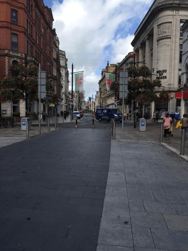 Die Hauptstadt Cardiff.