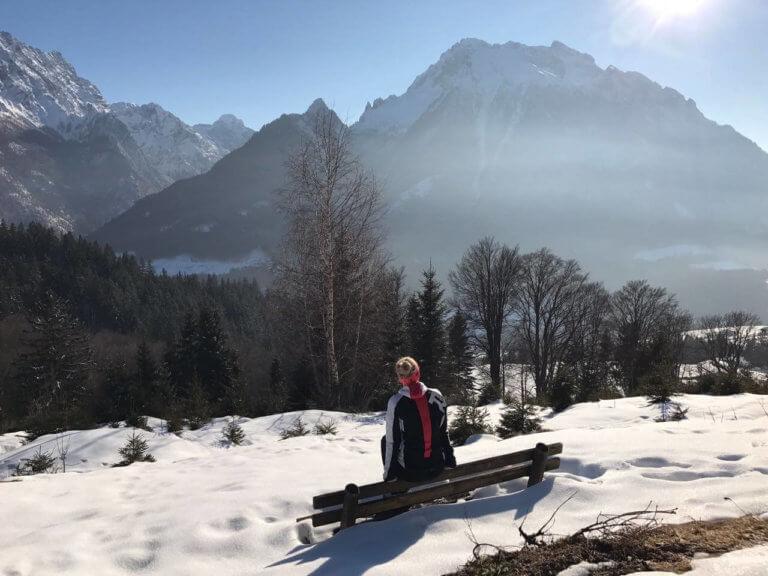"""Auf dem Weg zum """"Toten Mann"""", ein Berg in den Berchtesgadener Alpen."""